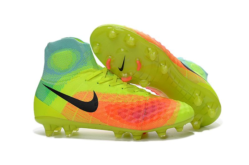 Nike Magista Obra II FG Yellow Red Black Men Football Boots
