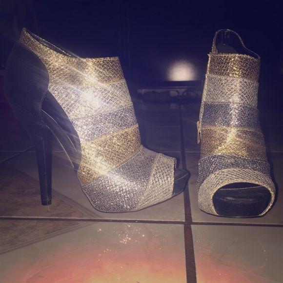 Sequin booties Brand new sequin boodies Charlotte Russe Shoes Heels
