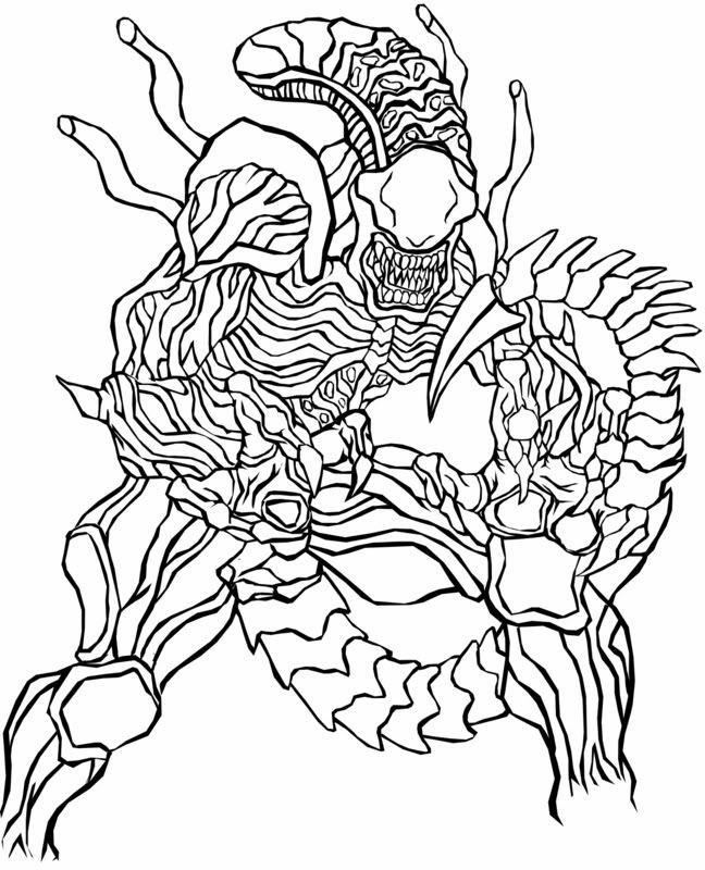 predator vs jason coloring pages - photo#16