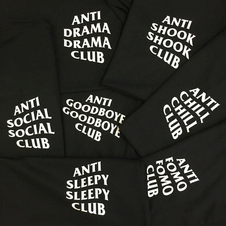Big Custom T Shirt Order Of The Anti Social Social Club Inspired Logo Completely Customizable Antisocials Custom Tshirts Anti Social Social Club Anti Social