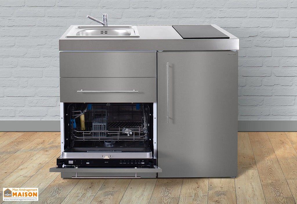 mini cuisine inox avec lave vaisselle et vitroc ramiques mpgses110 cuisine pinterest. Black Bedroom Furniture Sets. Home Design Ideas