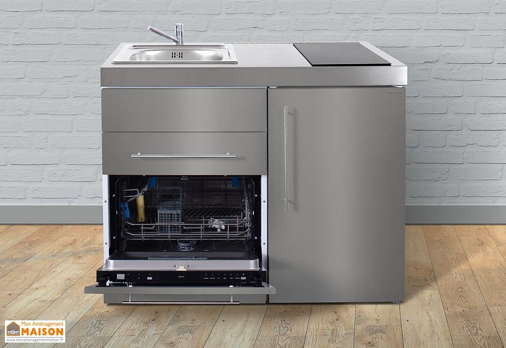 mini cuisine inox avec lave vaisselle et vitroc ramiques mpgses110 cuisines pinterest mini. Black Bedroom Furniture Sets. Home Design Ideas