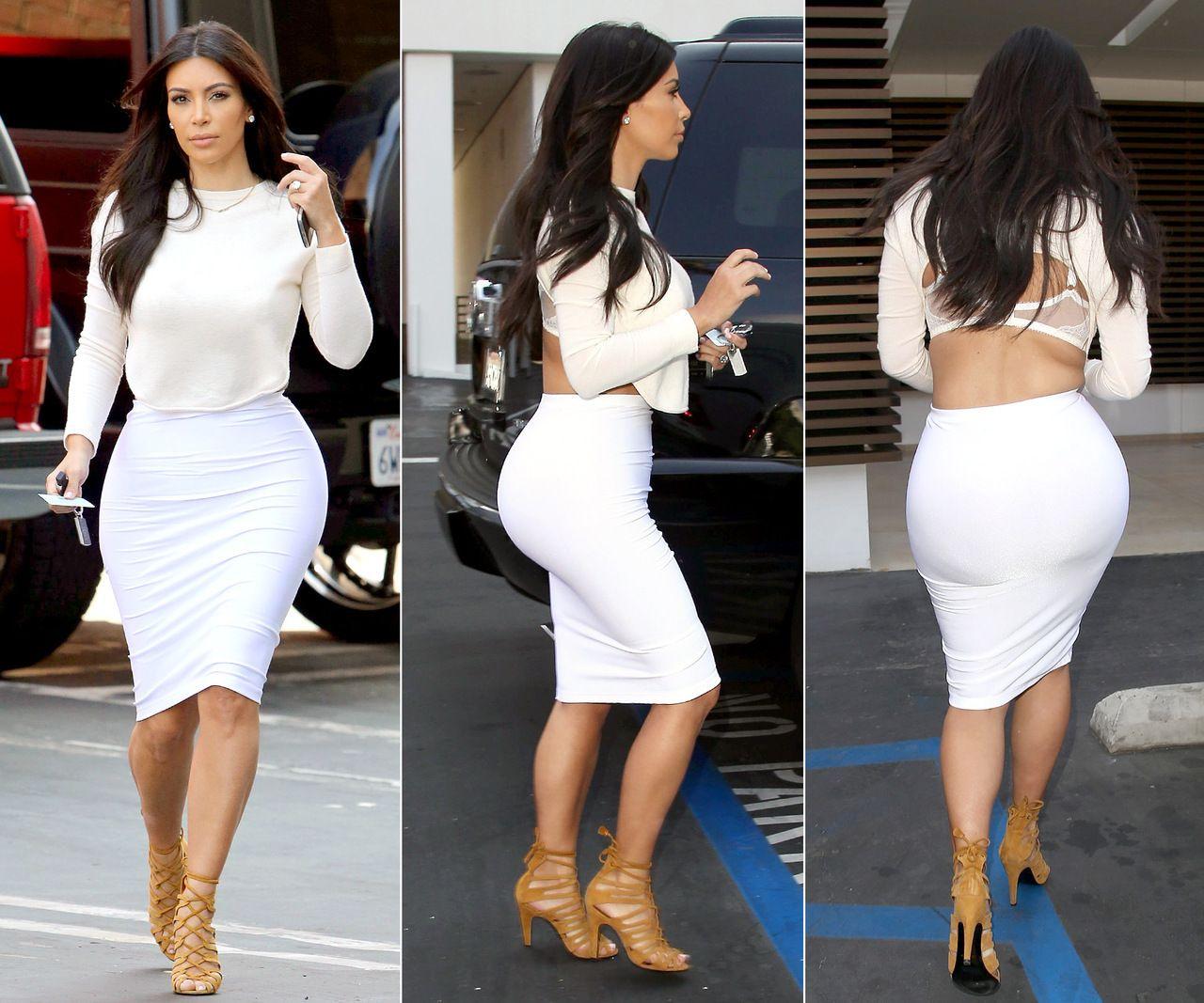 2a89c20d0 White Classy Striped Celeb Inspired Pencil Bandage Skirt, $74.00 ASO Kim  Kardashian
