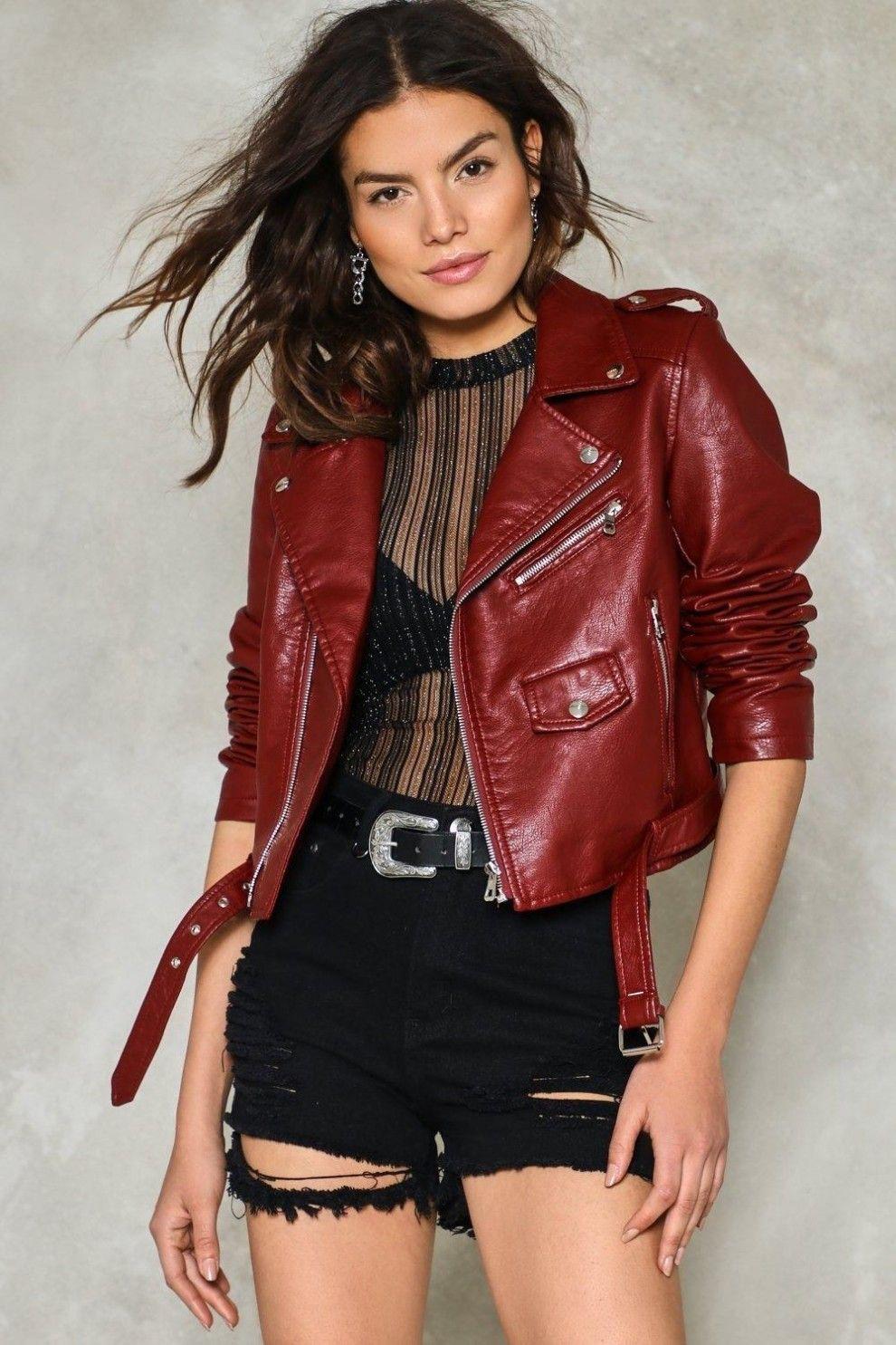 A vegan leather jacket for 40.50 (originally 90