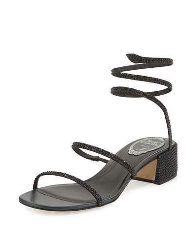 ea84cfe48a Rene Caovilla crystal-embellished satin sandal. 1.8