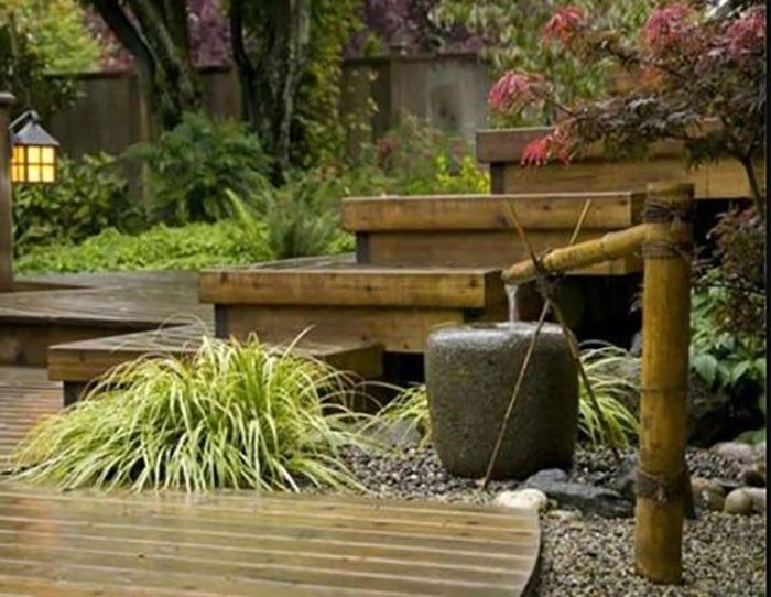 With water, rocks and lawn elements you can create your ...