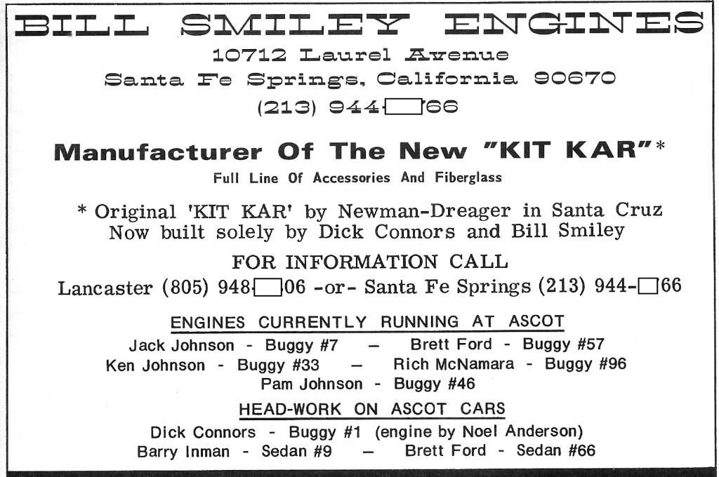 Vintage ad for the last of the N/D kit cars