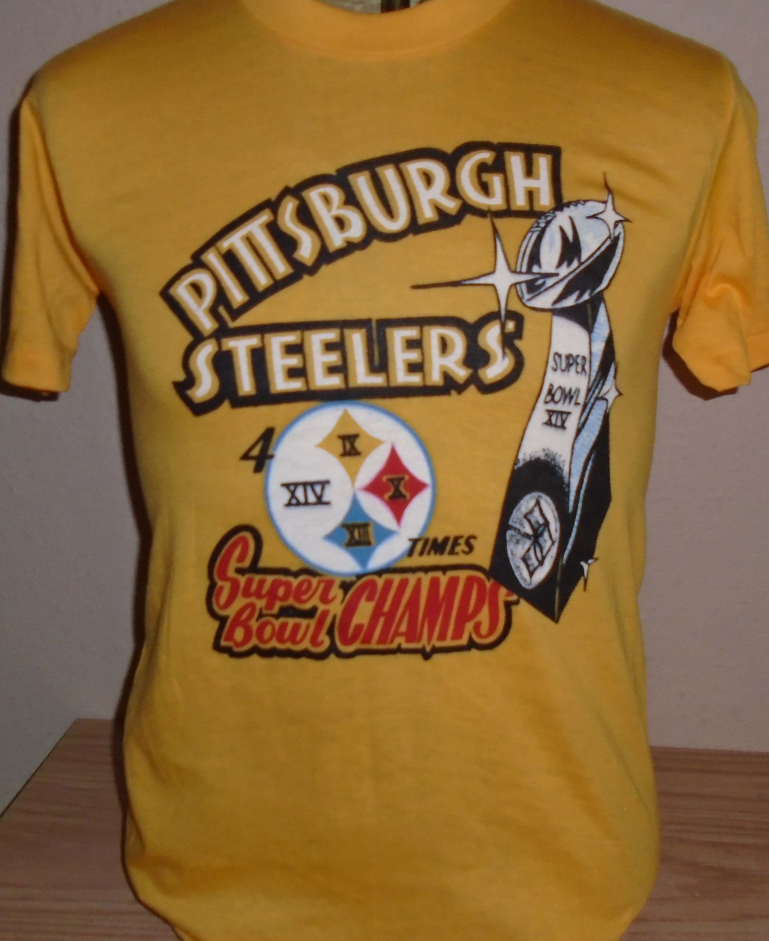 a02b7e5ff vintage 1980s Pittsburgh Steelers Super Bowl t shirt Medium GREAT by  vintagerhino247 on Etsy