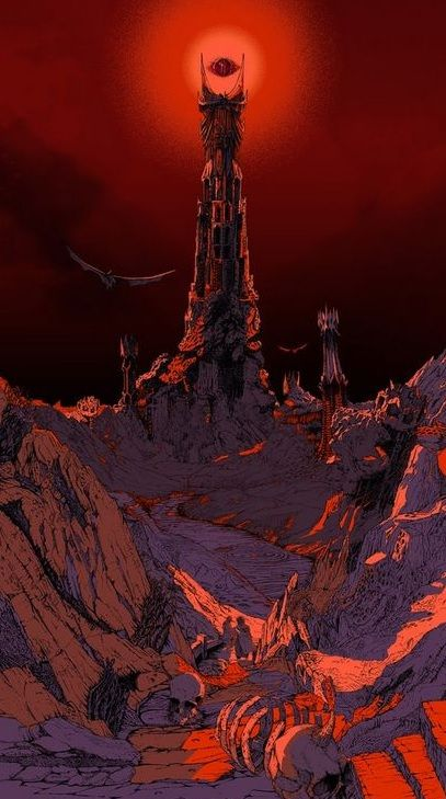 Mordor Sauron Phone Wallpaper Phone Wallpapers