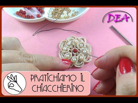 P.I.C.T.3°aP.2° - La perla al centro della rosetta e la raggiera delle perline dorate. - YouTube
