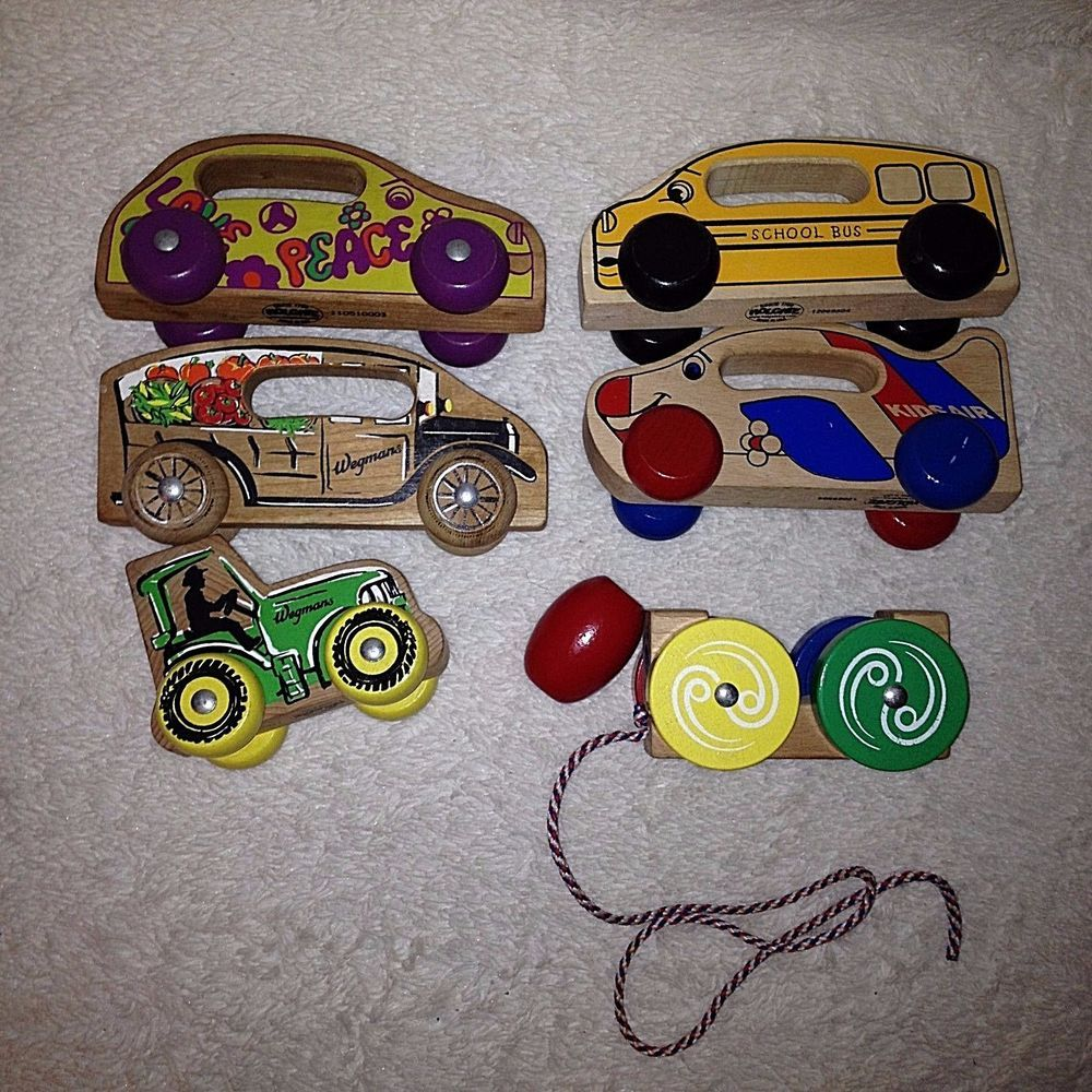 Lot of 6 Holgate Wooden Toys Car Bus Made In USA Waldorf Montessori ...