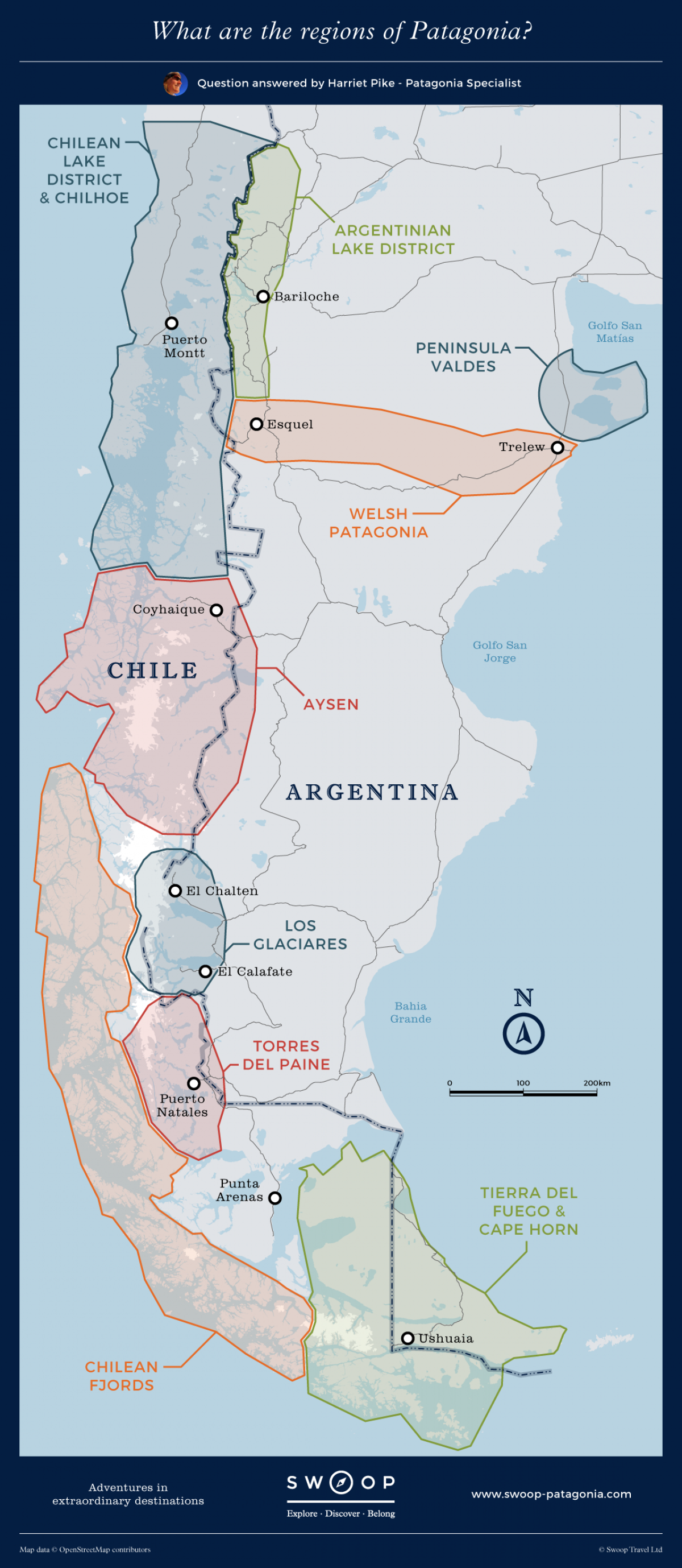 Patagonia On Map Patagonia Map   What are the regions of Patagonia? | ARGENTINA  Patagonia On Map
