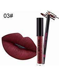 Wasserdicht Lipgloss und Lipliner Make Up Lippen Set #Beauty #Zubehör #Make-Up