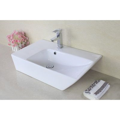 American Imaginations Above Counter Rectangular Vessel Bathroom Sink