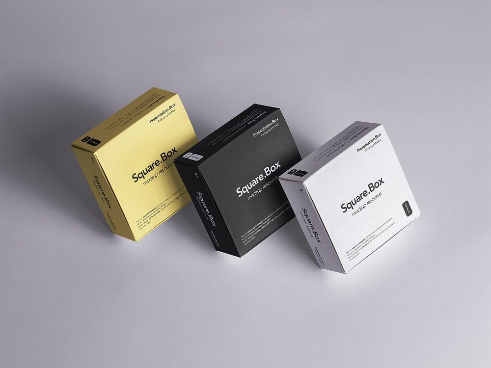 Download Box Mockup Square Free Yellowimages