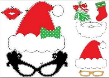 Christmas Photo Booth Free Printable Funny Props Free Printables