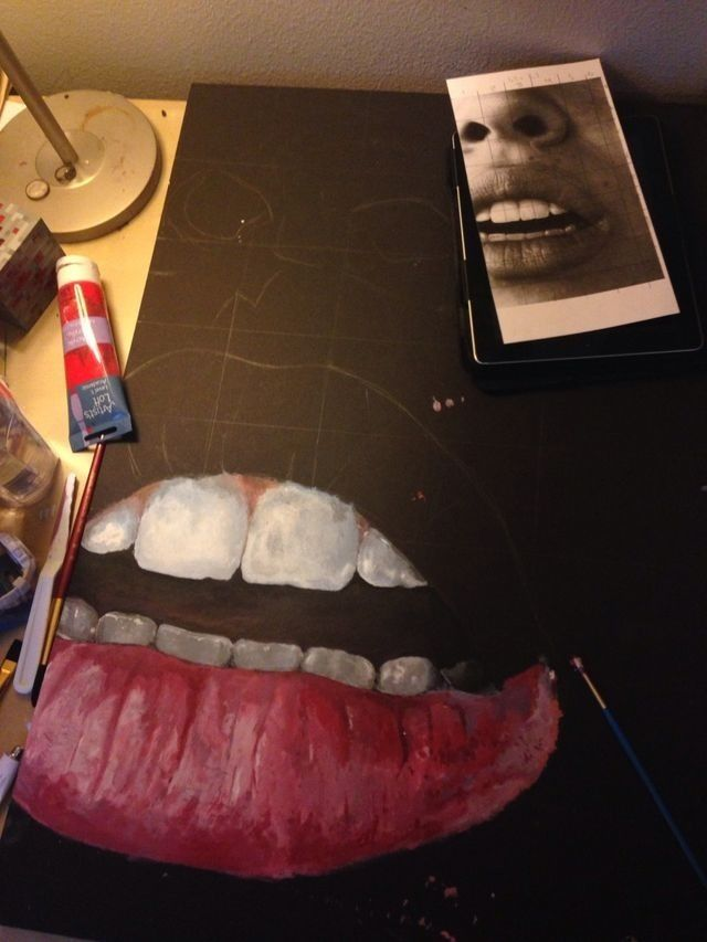 How To Paint Guy Lips In Acrylic