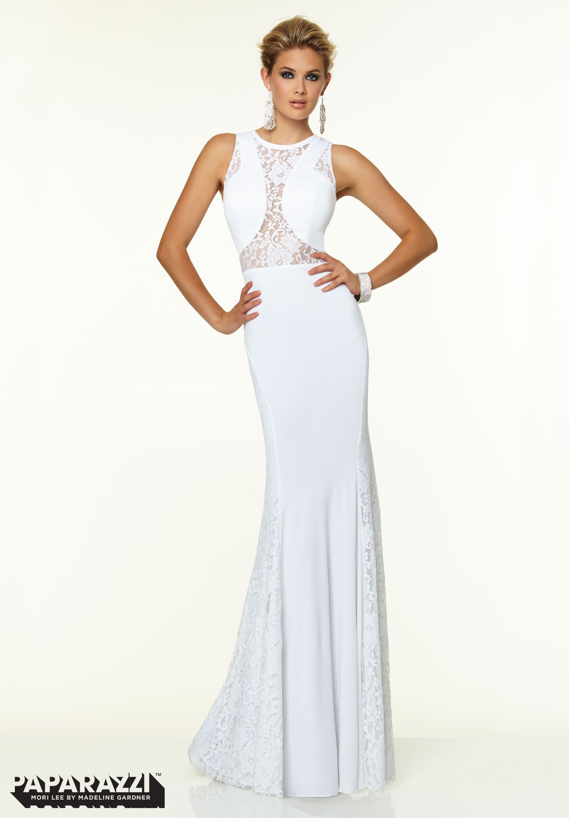 Prom dresses gowns style stretch lace and jersey