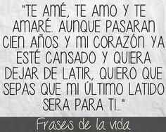 Te amé, te amo..