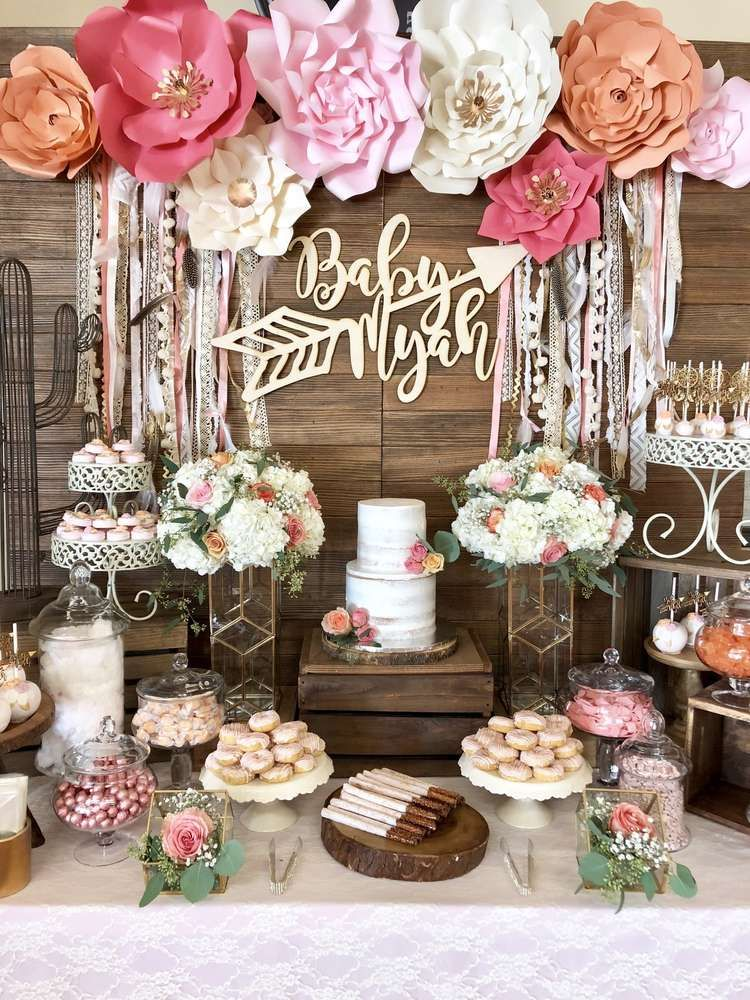 Baby Myah Boho Chic Baby Shower Catchmyparty Com In 2019