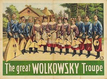 The Great Wolkowsky Troupe circus poster