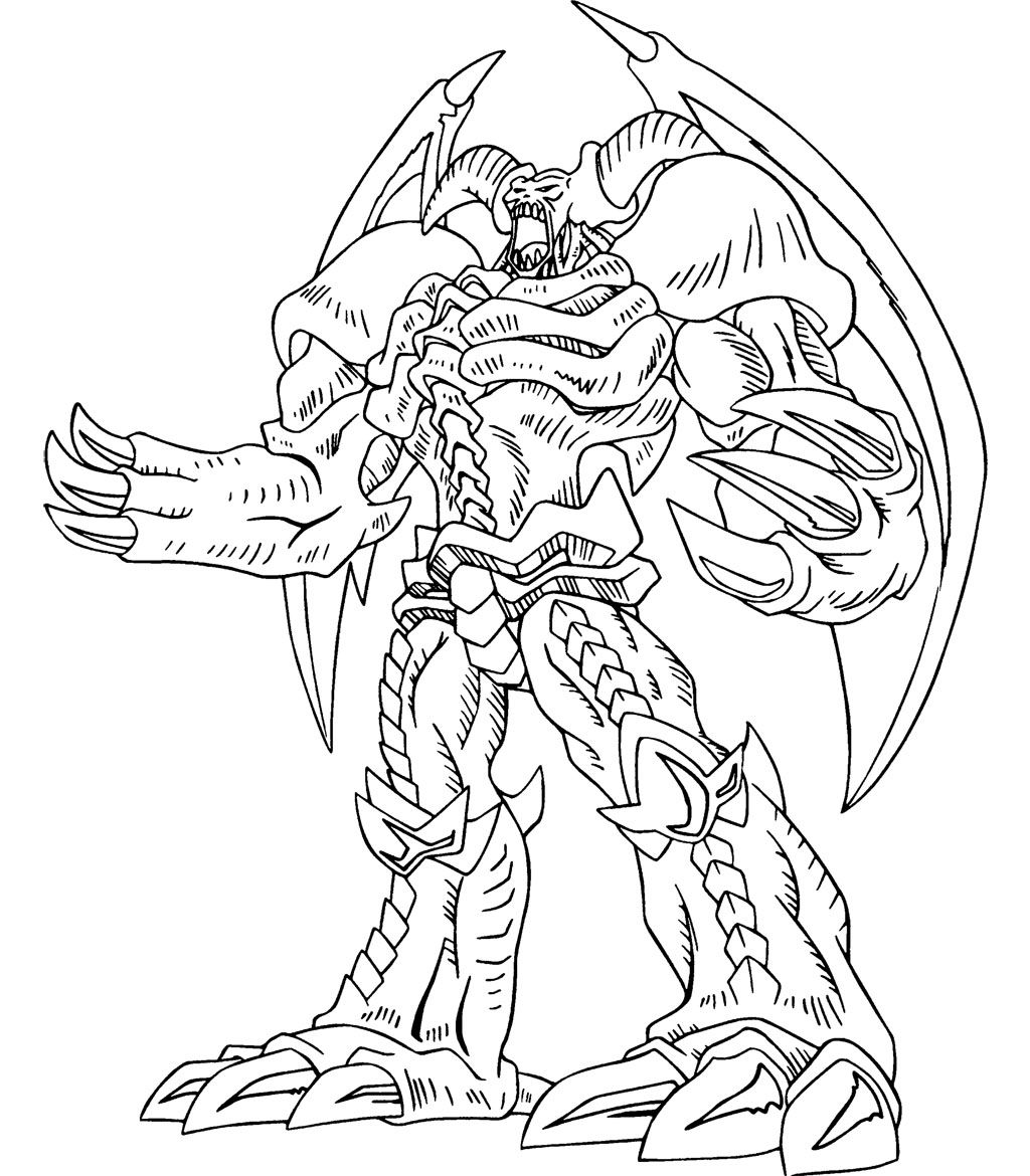 Yu Gi Oh Great Power Coloring Page Dragon Coloring Page Monster Coloring Pages Cartoon Coloring Pages