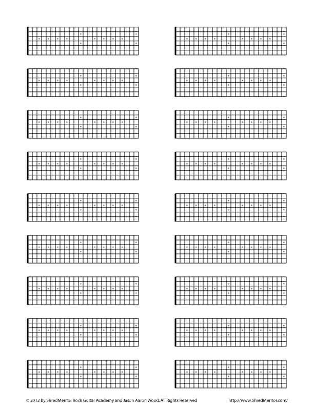 blank tab fretboard diagrams other guitar resources. Black Bedroom Furniture Sets. Home Design Ideas