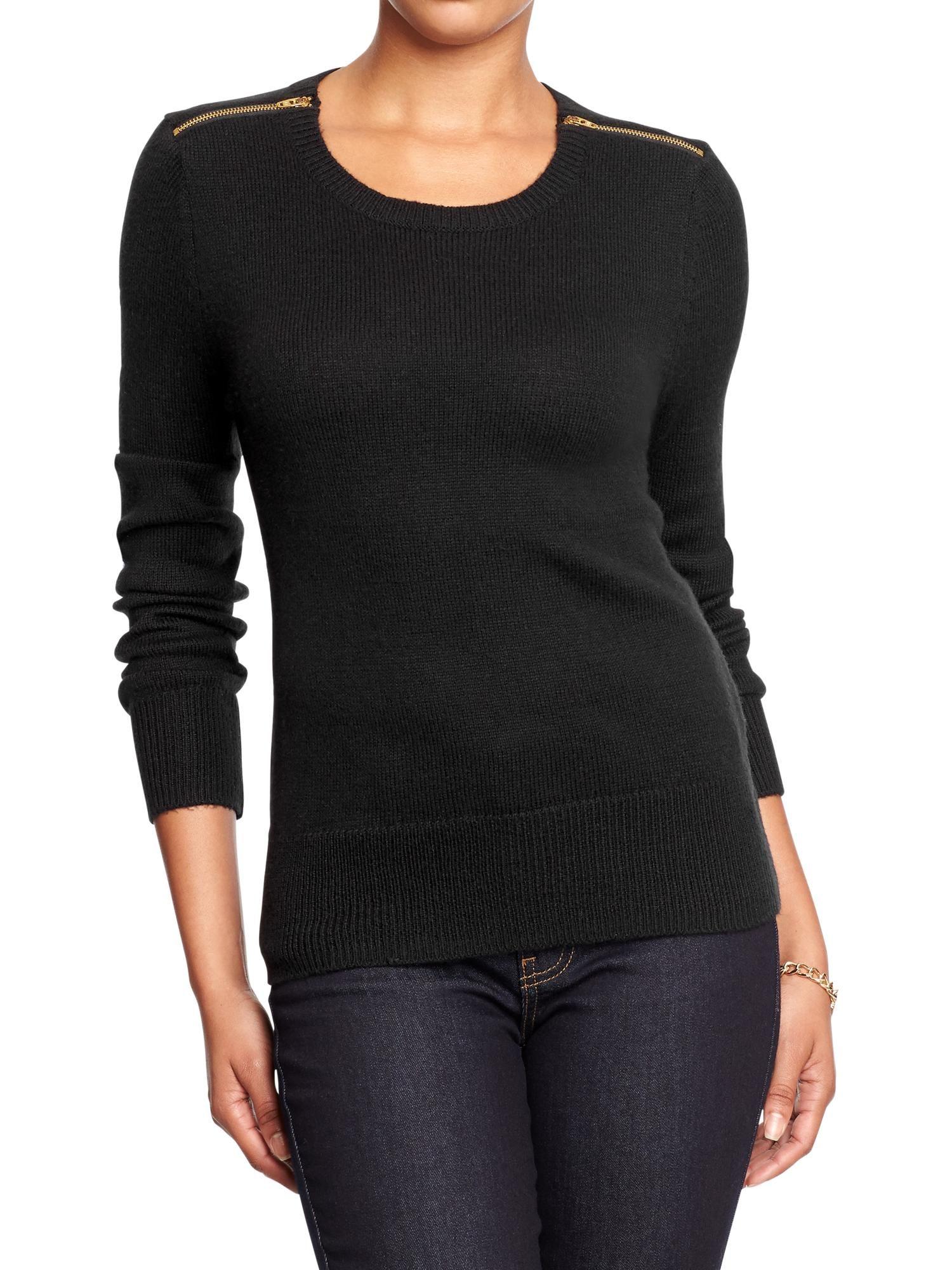 Old Navy | Women's Zip-Shoulder Sweaters