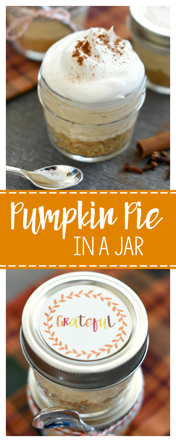 Pumpkin pie in a jar recipe thanksgiving gifts thanksgiving