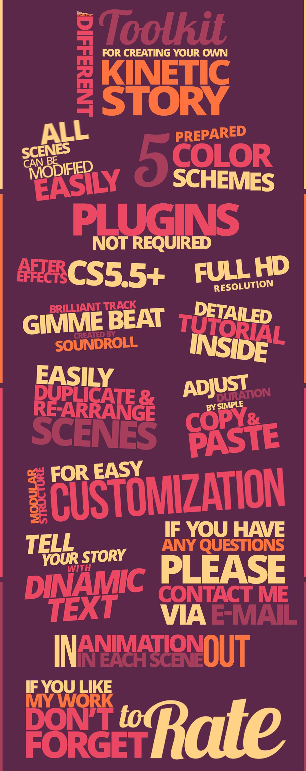 KINETIC TYPOGRAPHY PACK 10997449 - (VIDEOHIVE TEMPLATE) - FREE ...
