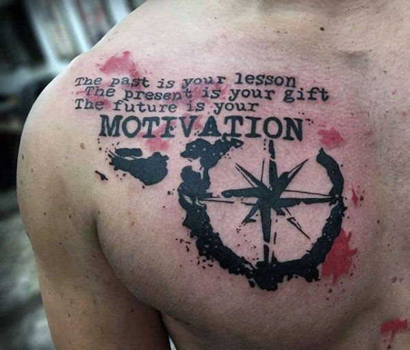 Top 41 Chest Writing Tattoo Ideas [2020 Inspiration Guide
