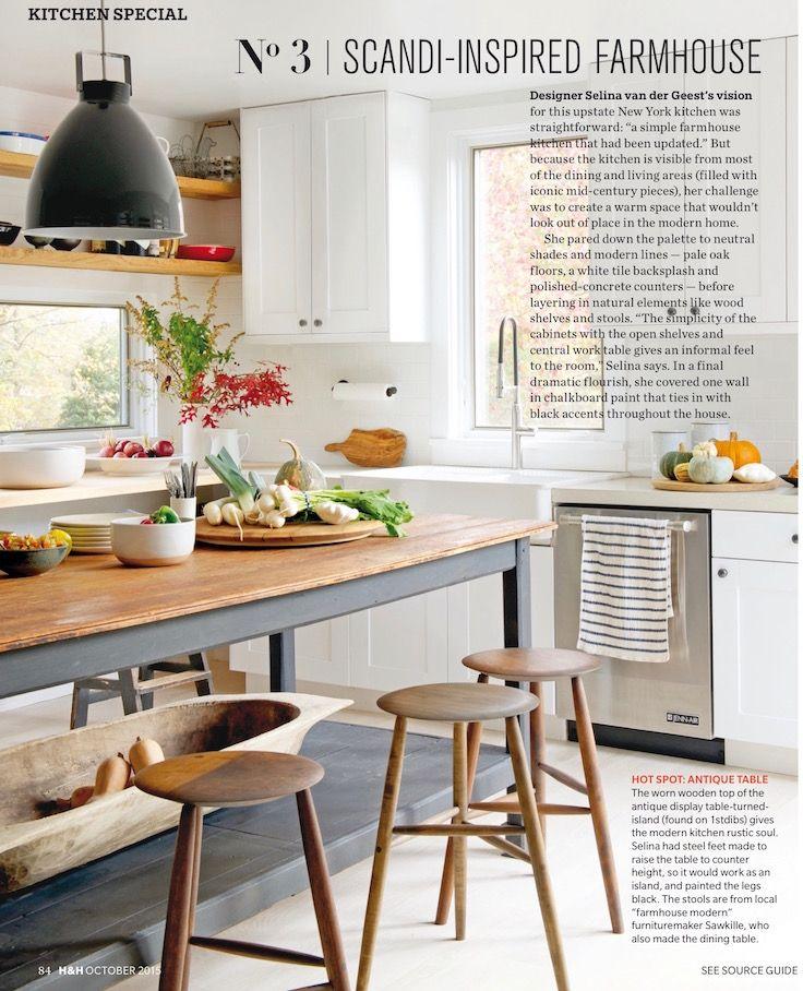 scandinavian-inspired farmhouse kitchen, designedselina van der geest, featured in house