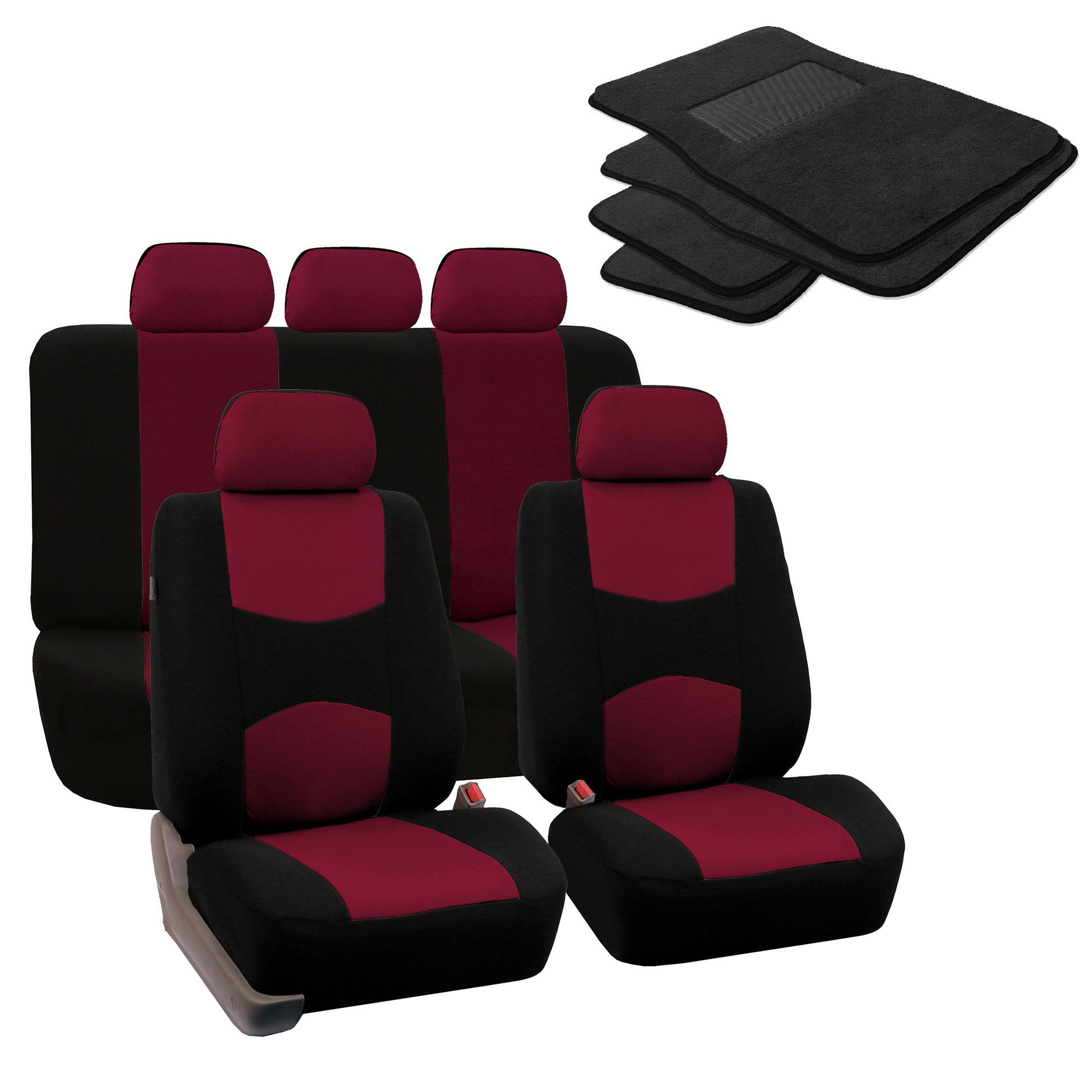 KUST rzd3192r Car seat Covers Custom Fit Seat Covers Only Fit for Toyota RAV4 Hybrid 2016 2017 2018,Leather Auto Seat Covers for SUV Full Set 4pcs Saddle Cover,4pcs Back Cover,5pcs Headrest Cover