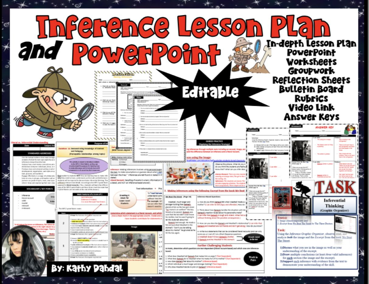 Inference Lesson Plan Powerpoint Worksheets And More