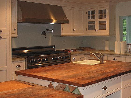 Wood Type Walnut Thickness 2 Construction Style Bookmatch Edge Delectable Kitchen Wood Countertops Inspiration