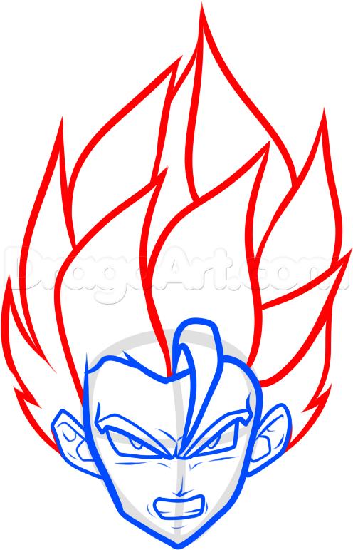 How To Draw A Super Saiyan Easy Step 6 Dragon Ball Artwork Dragon Ball Super Art Dragon Ball Art