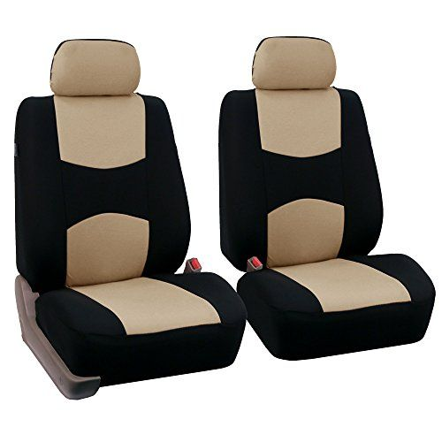 Fh Group Universal Fit Flat Cloth Pair Bucket Seat Cover Beige Black Fh Fb050102 Fit Most Car Truck Suv Or Van Car Accessories Online Market Bucket Seat Covers Seat Covers Car Seats