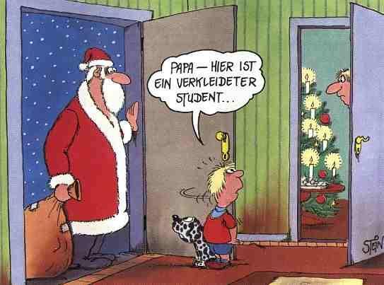 Weihnachtsstudent | Uli Stein | Pinterest | Humor