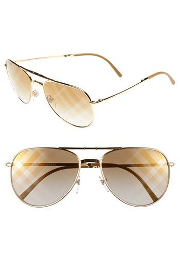 228bcc4c56c0 Burberry 57mm Aviator Sunglasses available at  Nordstrom ...