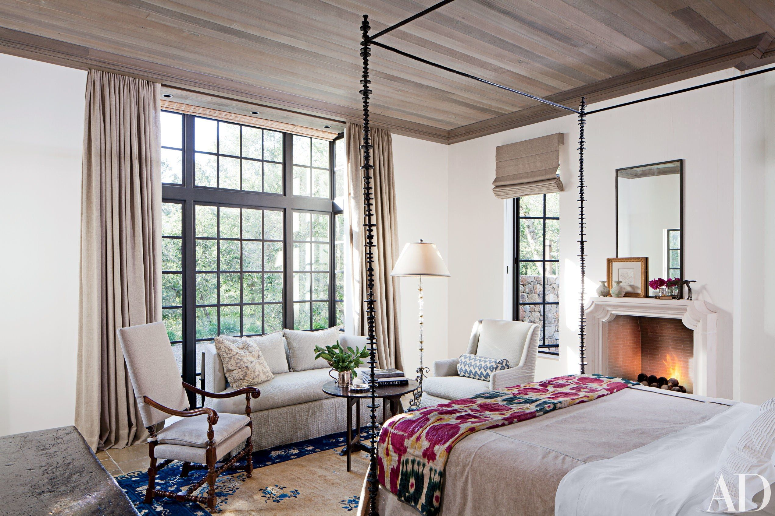 23 Beautiful Bedroom Fireplaces Photos | Architectural Digest