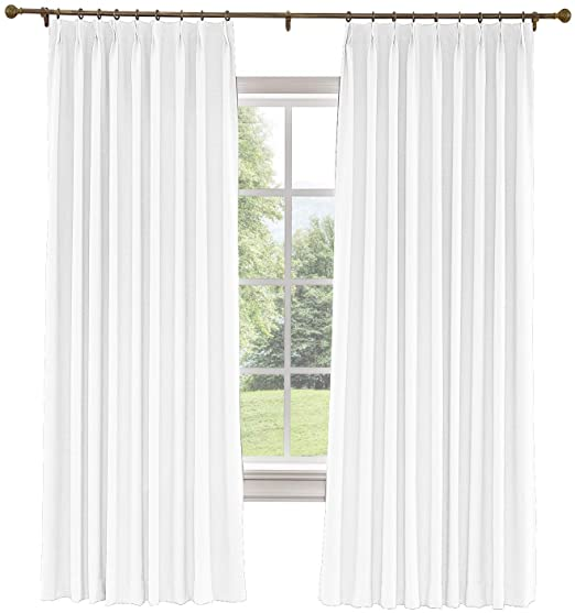 Classic Sheers 96 Inch And 144 Inch Pinch Pleat Curtains Natural 144in W X 84in L Pair Vermont Country In 2021 Pinch Pleat Curtains Pinch Pleat Pleated Curtains