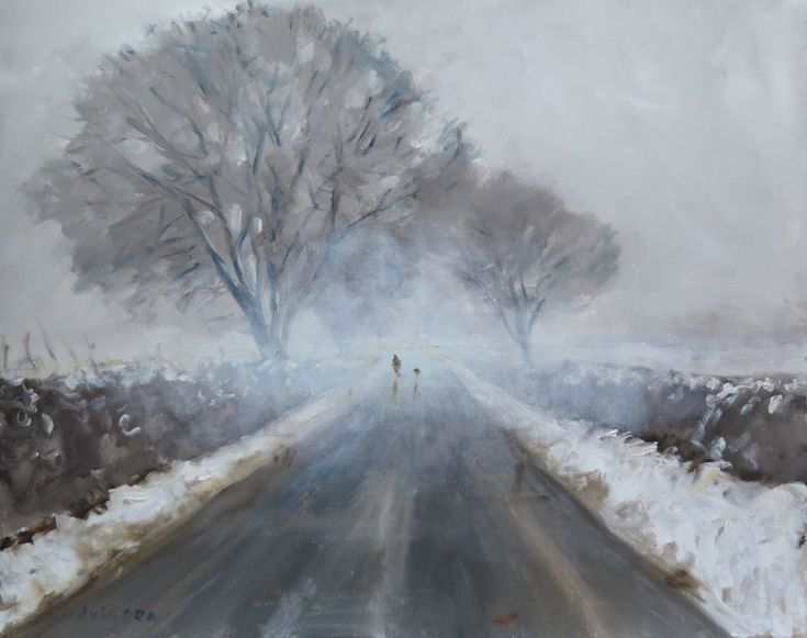 Buy Snow in the Wolds., Oil painting by Malcolm Ludvigsen on Artfinder. Discover thousands of other original paintings, prints, sculptures and photography from independent artists.