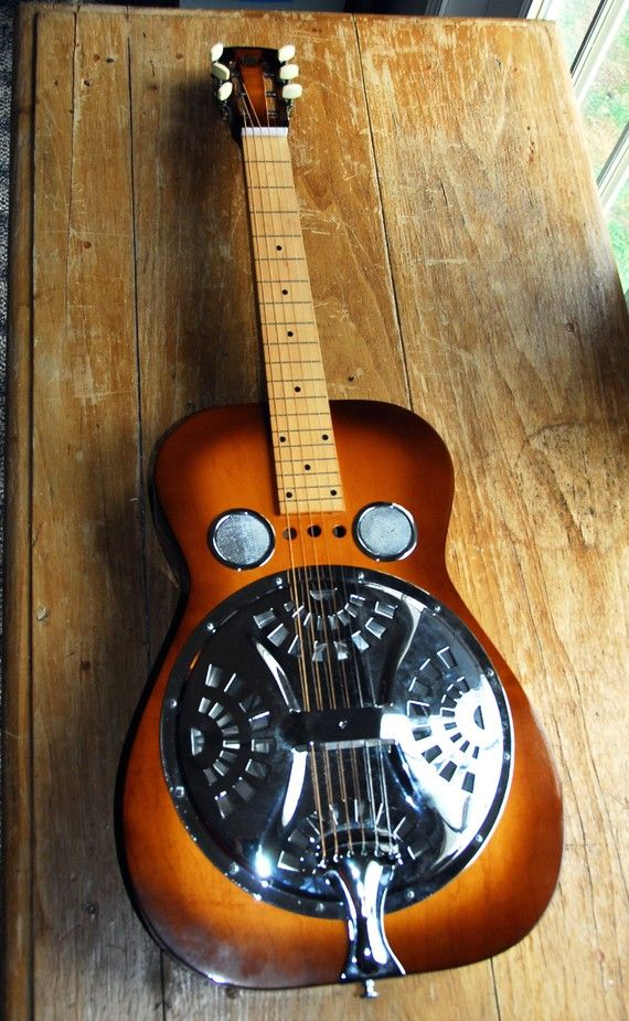 Pin By Neide Viveiros On Crafted Music Guitar Resonator Guitar Unique Guitars