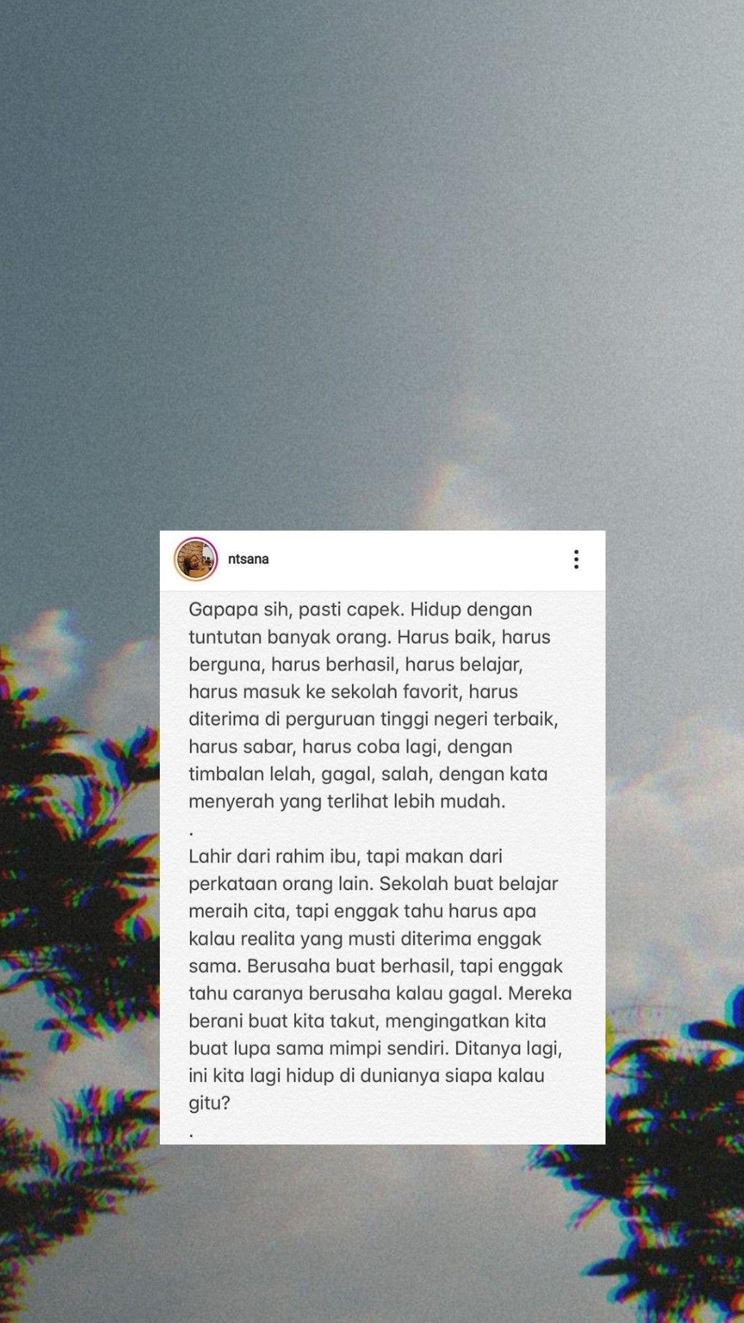 Pin Oleh Aisyah Alifia Di Kutipan 2020 Kata Kata Indah