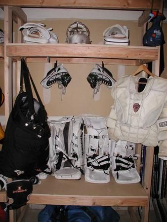 Pin By K Goffin On Humm Hockey Equipment Storage Hockey Gear Storage Hockey Equipment