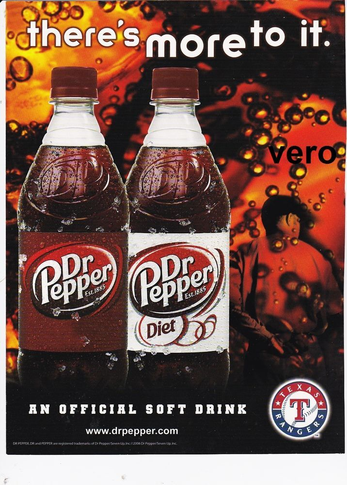 Dr Pepper 2006 Magazine Ad Print Page Clipping Soda Pop