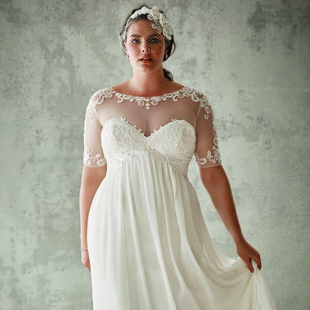 Hochzeitskleid mollig | Curvy Size Hochzeit Kleider für die kurvige ...