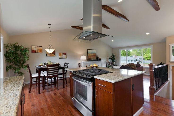 Open Concept Split Level House Plan Ranch Open Split