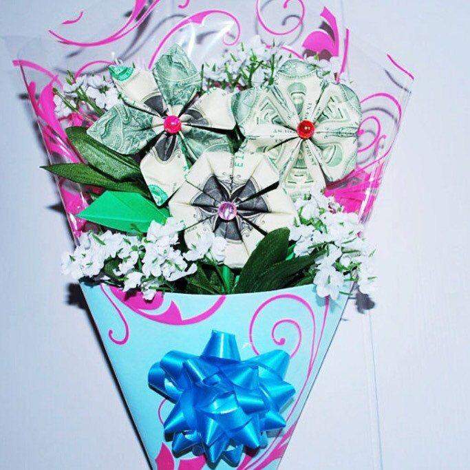Money flowers - dollar flowers - money origami flowers - money ...