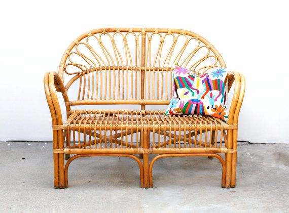 Great A Beautiful Vintage Franco Albini Style Rattan Bench. This Amazing Mid  Century Piece Is Romantic